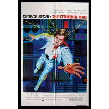 TERMINAL MAN Affiche US '74 George Segal, Hodges, Crichton movie poster