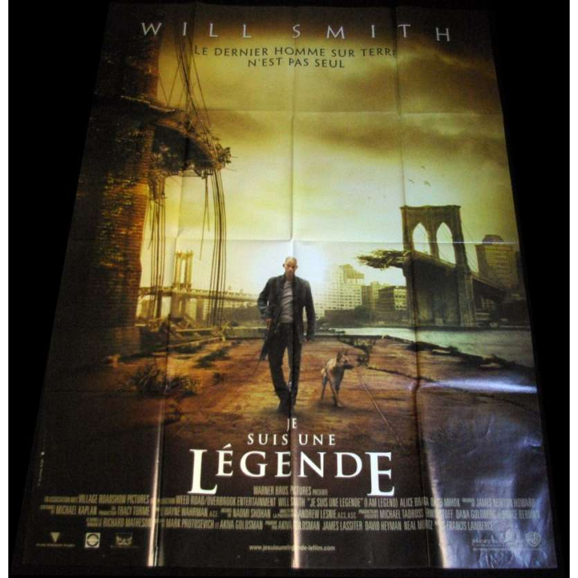 JE SUIS UNE LEGENDE Affiche 120x160 FR Will Smith Movie Poster