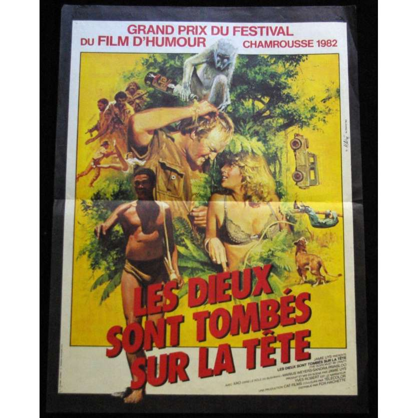 THE GODS MUST BE CRAZY French Movie Poster 15x21 '82 Chamrousse