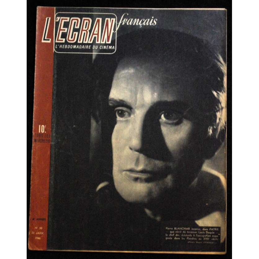 L'Ecran Français – N°030 – 1946 – Pierre Blanchar
