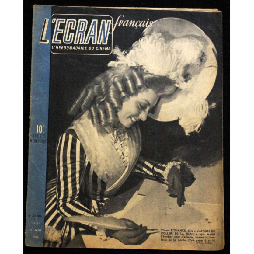 L'Ecran Français – N°031 – 1946 – Viviane Romance