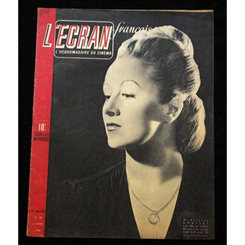 L'Ecran Français – N°040 – 1946 – Madeleine Rousset
