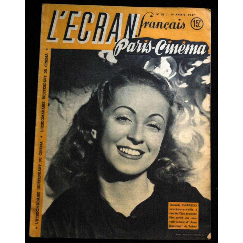 L'Ecran Français – N°092 – 1947 – Daniele Darrieux