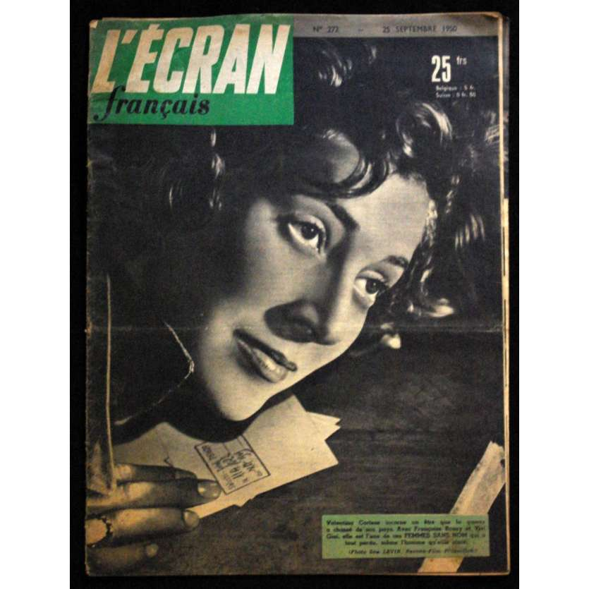 L'Ecran Français – N°272 – 1950 – Femmes sans nom