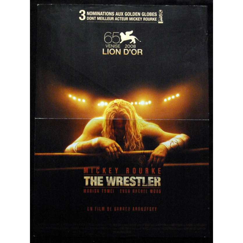 'WRESTLER Affiche 40x60 FR ''08 Mickey Rourke, Aronofski Movie Poster'