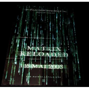 'MATRIX RELOADED Affiche 120x160 FR ''03 Keanu Reeves, Wachowski Movie Poster'