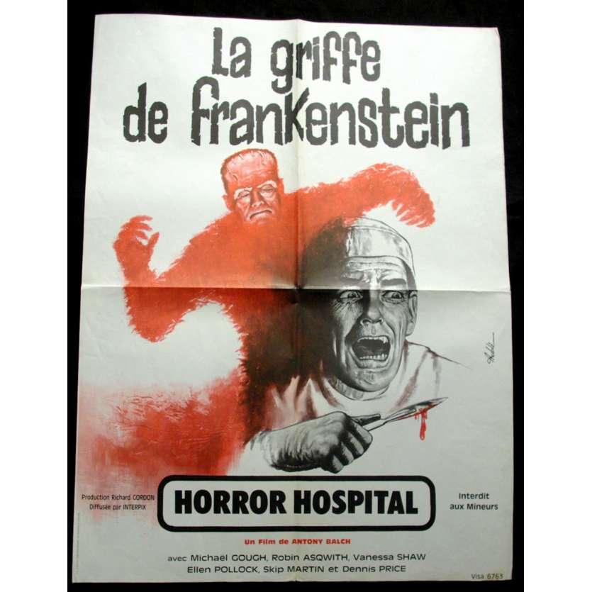 'LA GRIFFE DE FRANKENSTEIN Affiche 60x80 FR ''73 Horror Movie Poster'