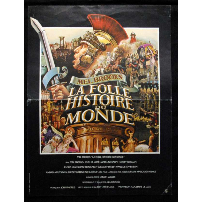 'LA FOLLE HISTOIRE DU MONDE Affiche 40x60 FR ''82 Movie Poster'