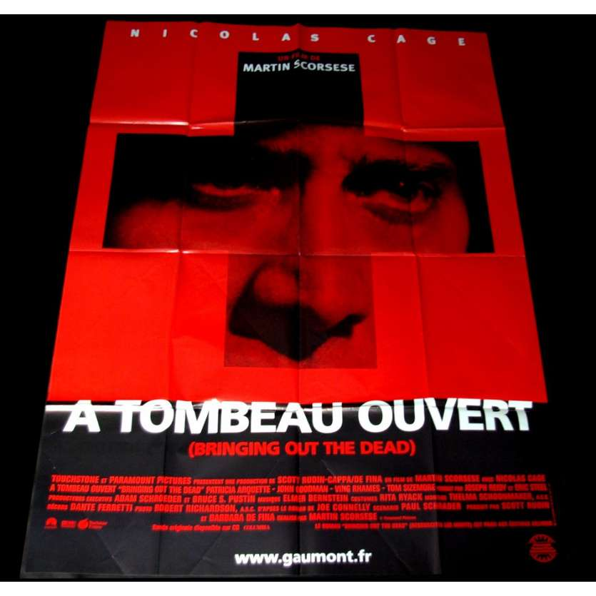'A TOMBEAU OUVERT Affiche 120x160 FR ''99 Scorcese, Nicolas Cage Movie Poster'