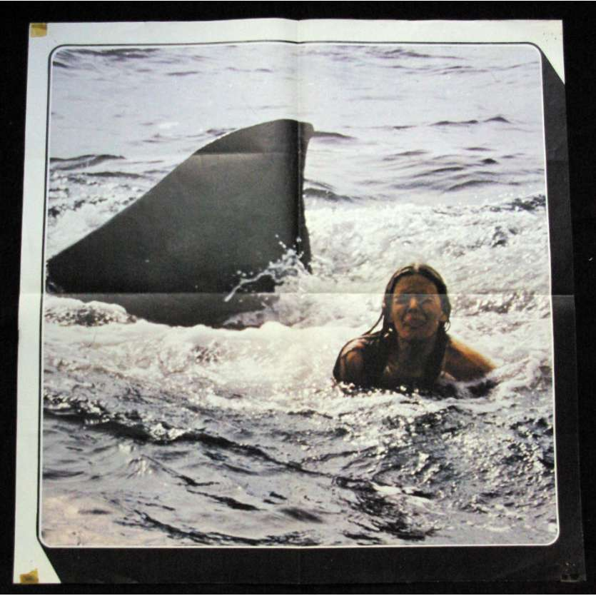 "JAWS French Lobby posters 23,5""x23,5"" '75 Steven Spielberg, Ultra-rare !"