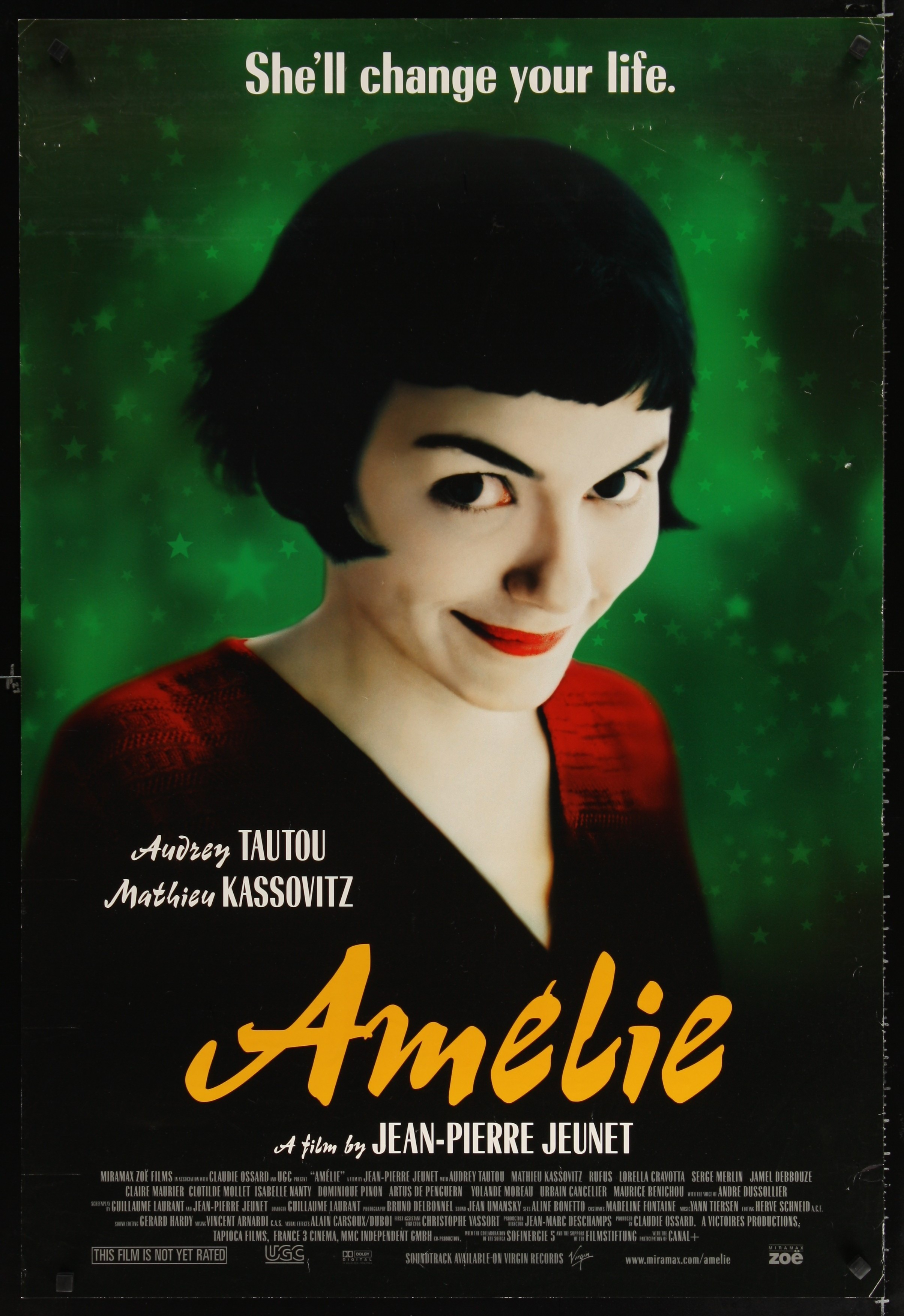 Audrey Tautou Amelie Poulain Jean-Pierre Jeunet Amelie Movie Poster