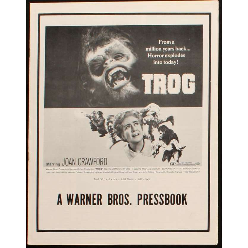 TROG pressbook US Joan Crawford Horror
