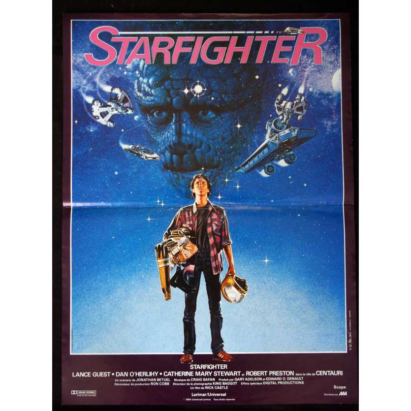 STARFIGHTER Affiche 40x60 FR '85 Movie Poster