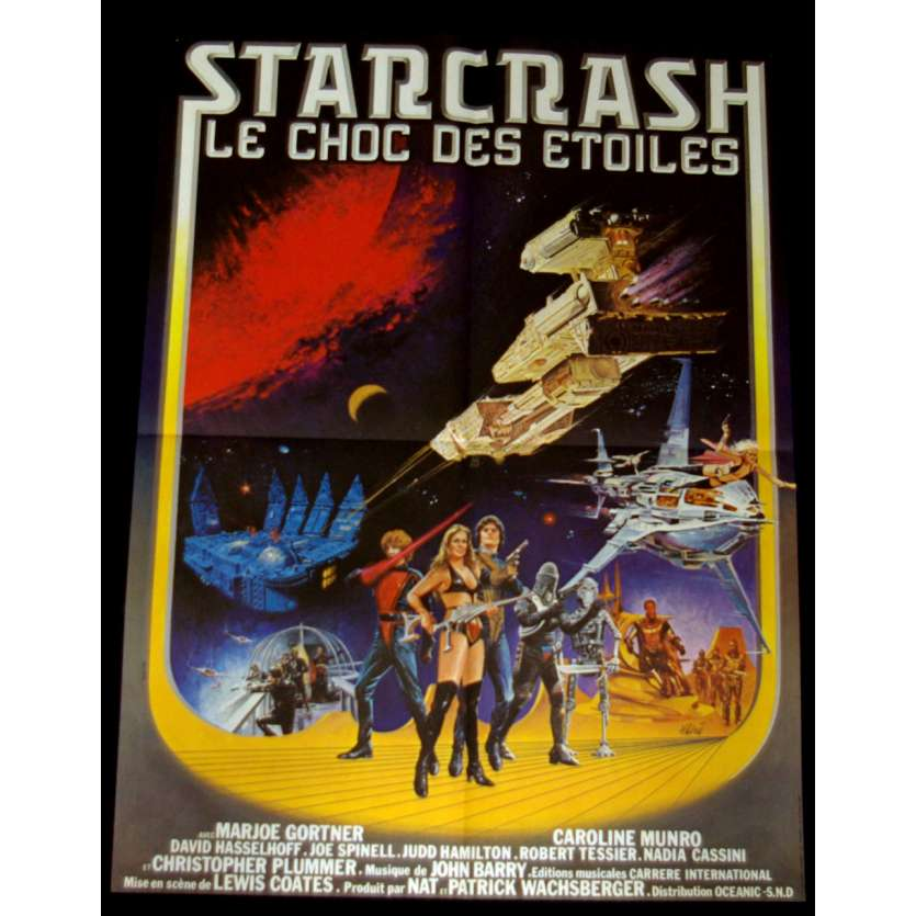 STARCRASH French Movie Poster 23x32 '77 Caroline Munroe