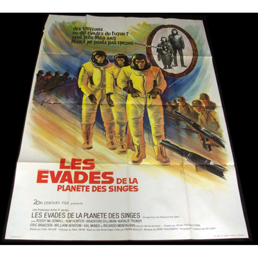 EVADES DE LA PLANETE DES SINGES Affiche 120x160 FR '71 Planet apes Movie Poster