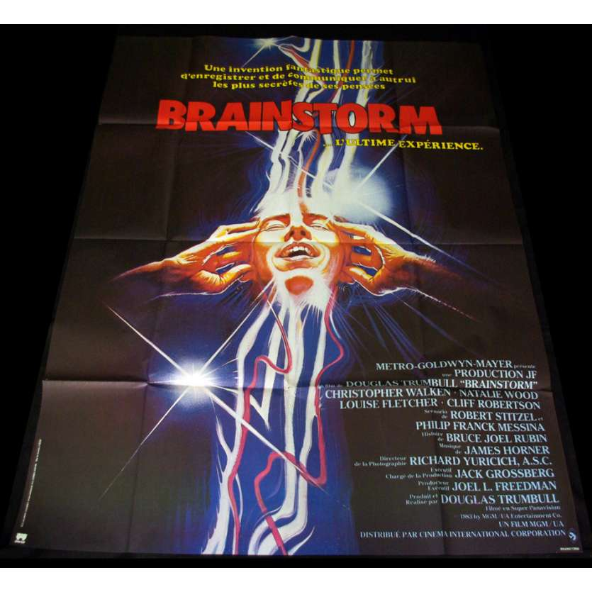 BRAINSTORM Affiche 120x160 FR Christopher Walken, Nathalie Wood Poster