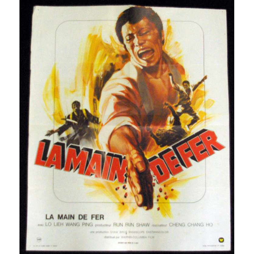 NEW ONE ARMED SWORDMAN French Movie Poster 23x32 '74 Chang Cheh, Shaw Brothers