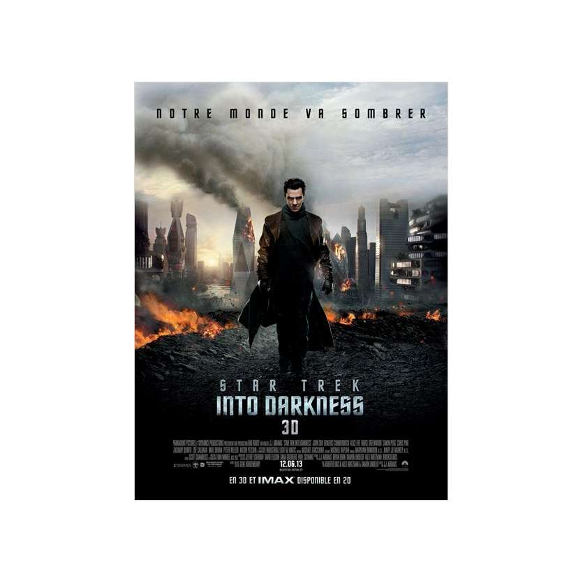 STAR TREK : INTO DARKNESS Affiche prev. 120x160 FR '13 J. J. Abrams Movie Poster