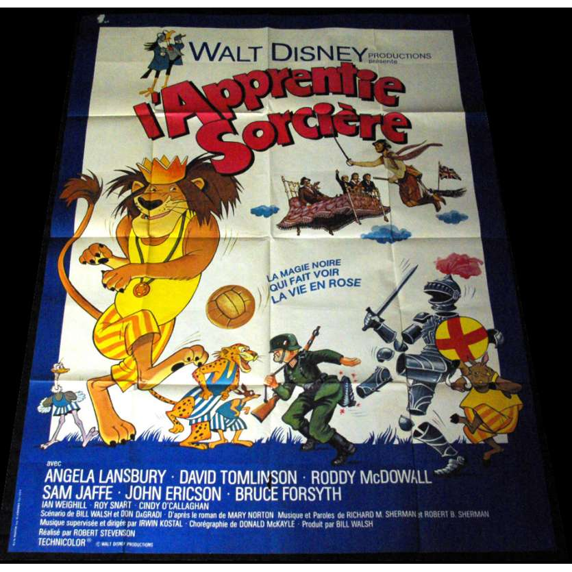 BEDKNOBS AND BROOMSTICKS French Movie Poster 47x63 '71 Walt Disney Classic