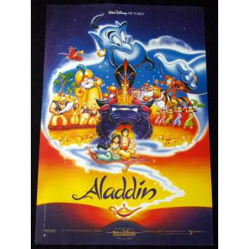 ALADDIN French Movie Poster Blue 15x21 '92 Walt Disney Classic