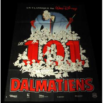 101 DALMATIANS French Movie Poster 47x63 R80 Walt Disney Classic