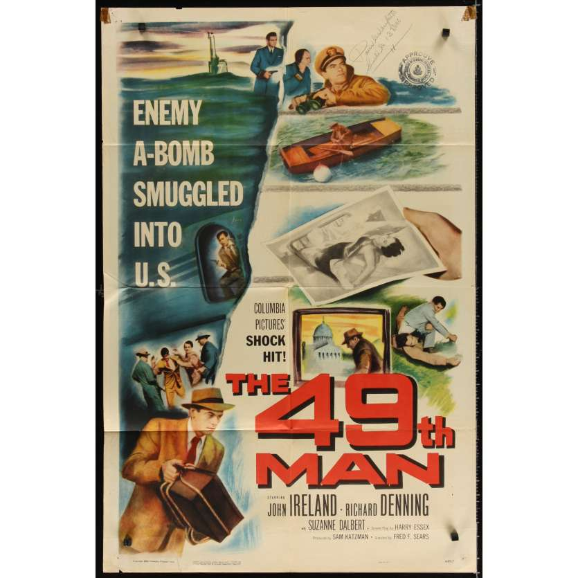 49TH MAN Affiche Originale US '53 John Ireland Movie poster
