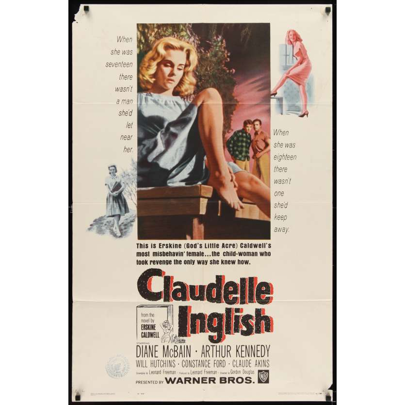 CLAUDELLE INGLISH Affiche Originale US '61 Erskine Caldwell Movie poster