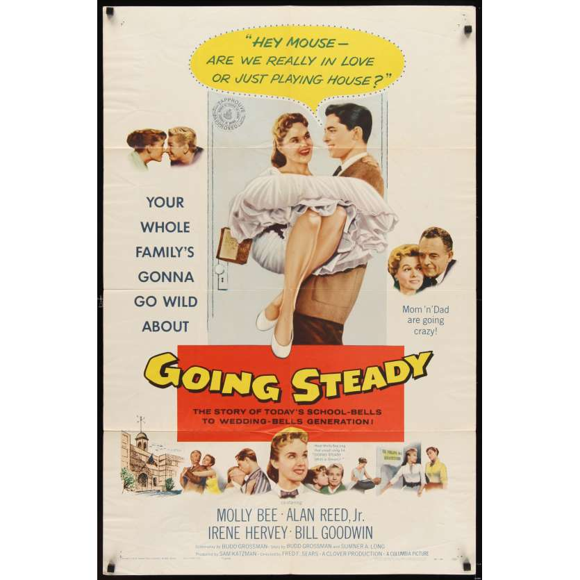 GOING STEADY Affiche Originale US '58 Alan Reed Movie poster