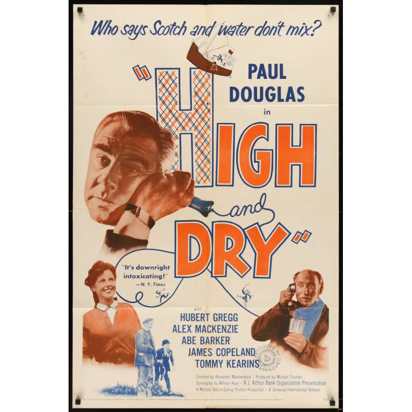 HIGH AND DRY Movie Poster '54 Paul Douglas