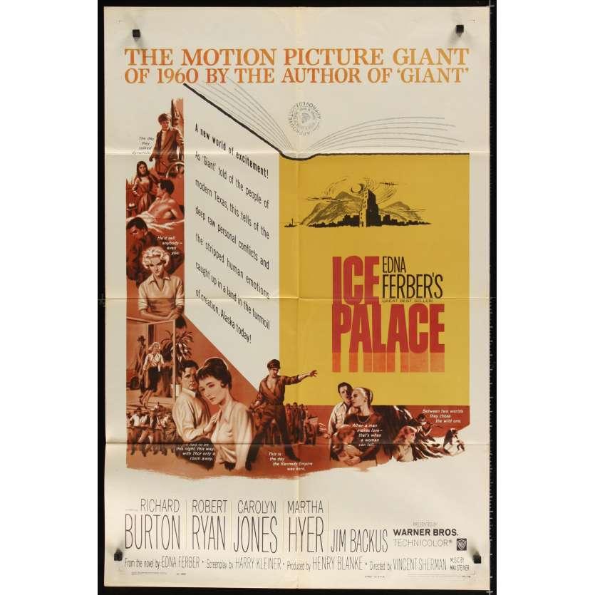 ICE PALACE Movie Poster '60 Richard Burton, Robert Ryan