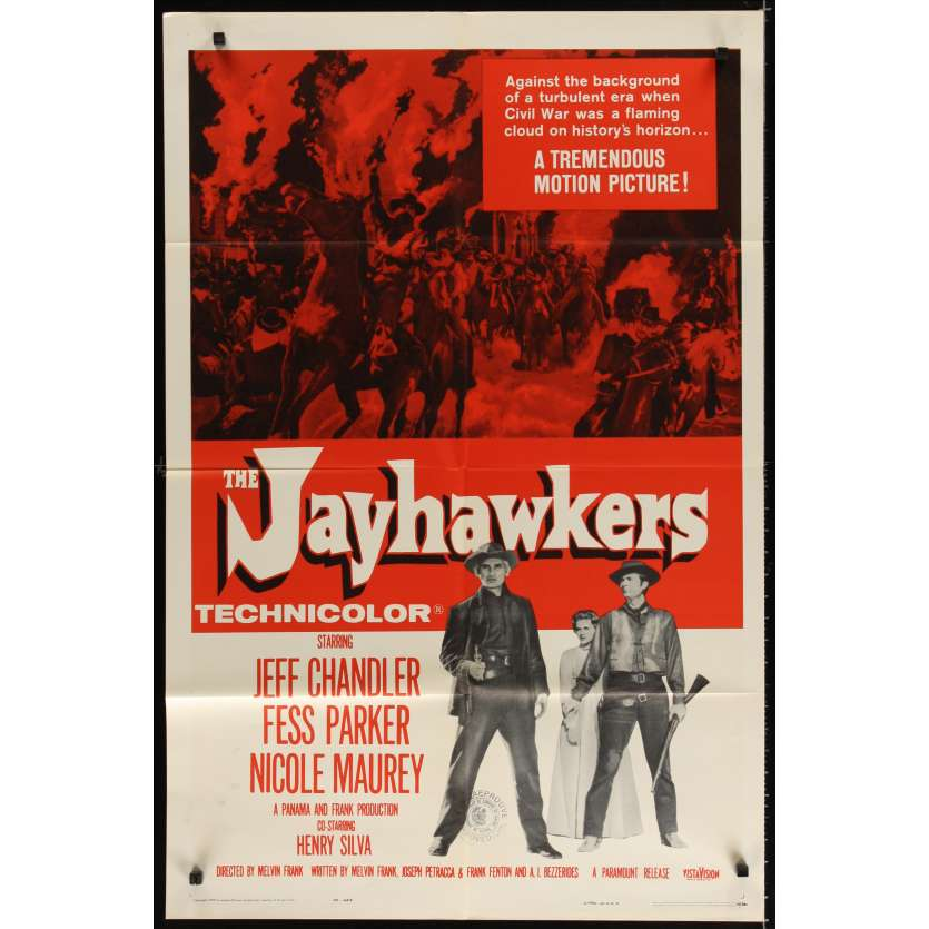 JAYHAWKERS Movie Poster '59 Jeff Chandler