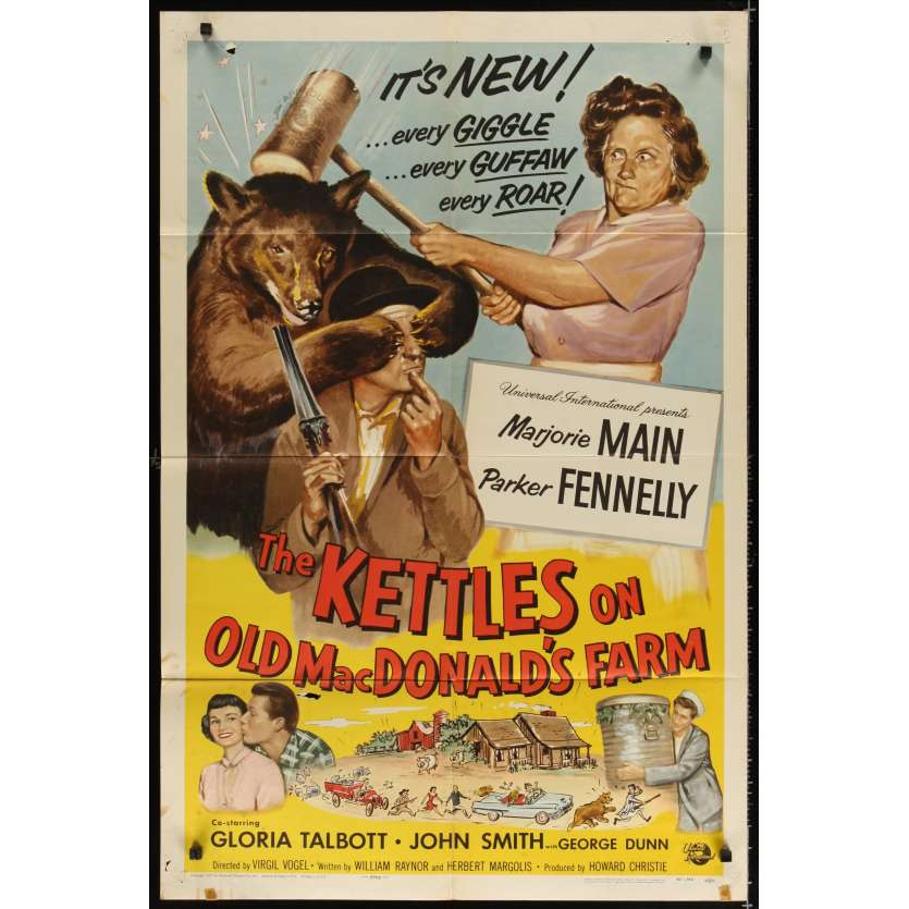 KETTLES-MAC'S FARM Affiche Originale US '68 Movie poster