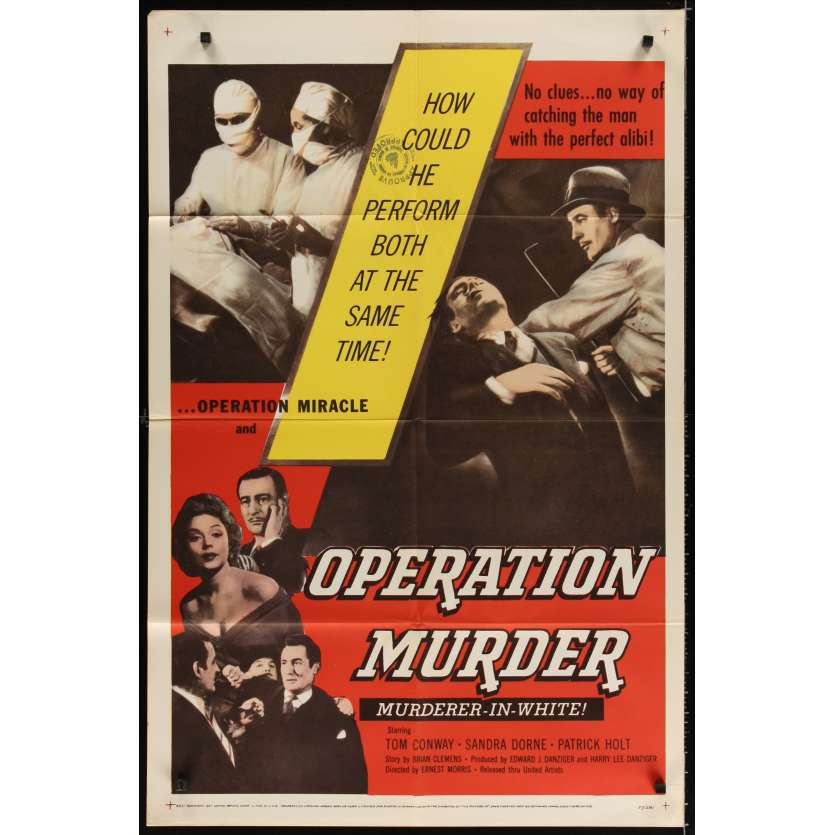 OPERATION MURDER Movie Poster '57 Tom Conway