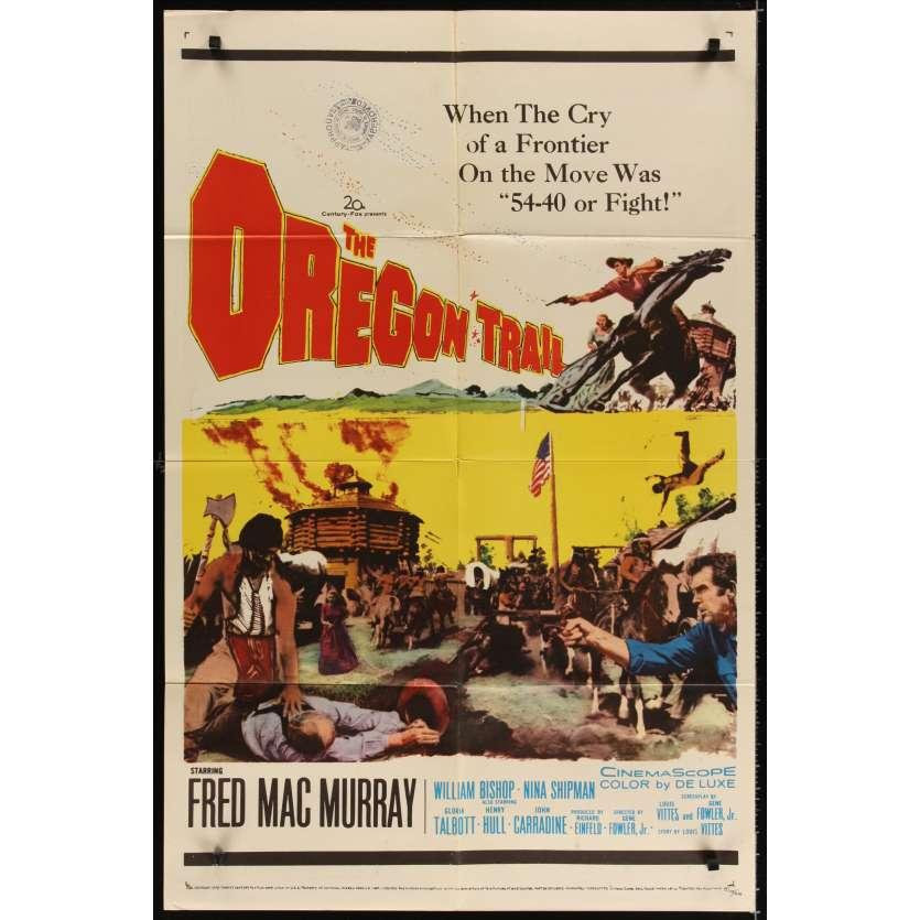 COMANCHES PASSENT A L'ATTAQUE Affiche Originale US '59 Fred Mac Murray Movie poster