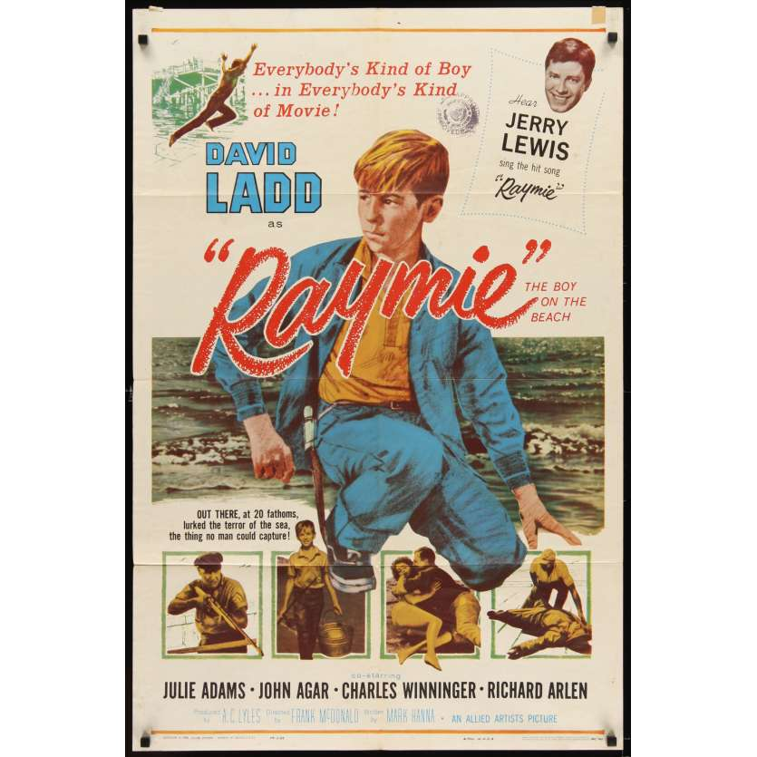 RAYMIE Movie Poster '60 Jerry Lewis