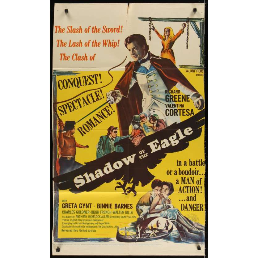 SHADOW OF THE EAGLE Affiche Originale US '55 George Montgomery Movie poster