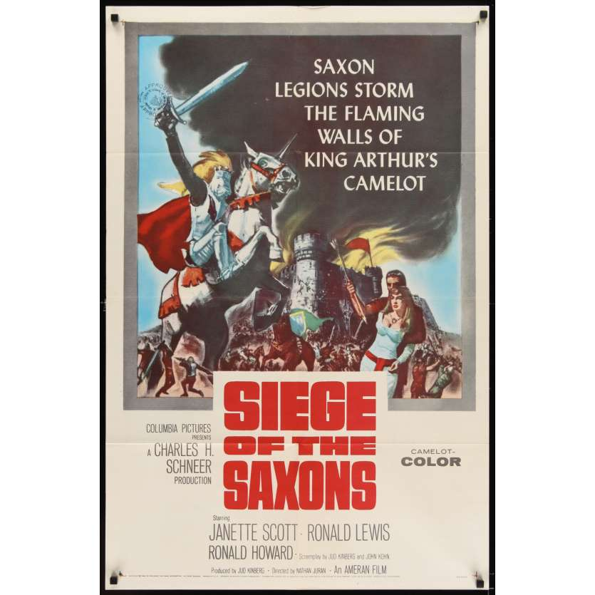 SIEGE OF THE SAXONS Affiche Originale US '61 Janette Scott Movie poster