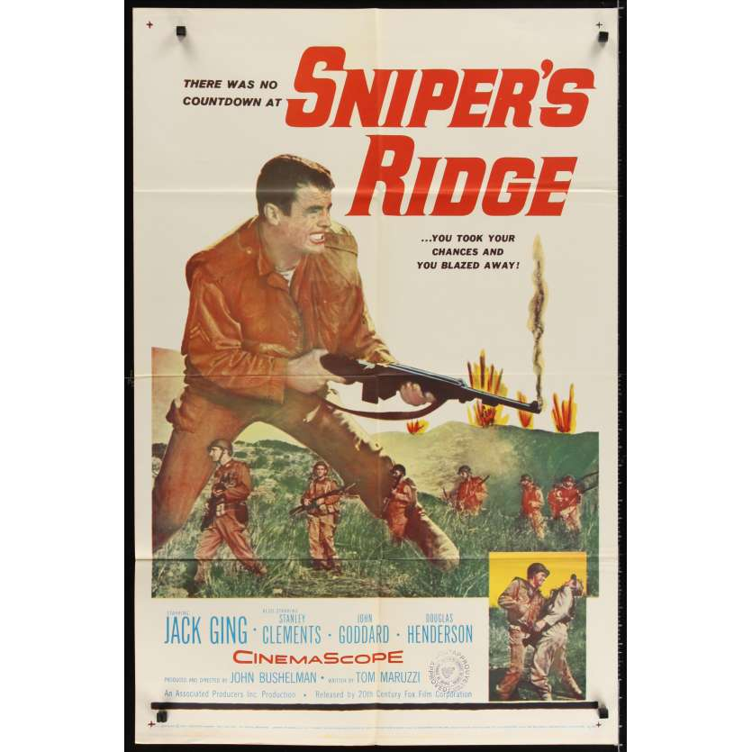 SNIPER RIDGE Affiche Originale US '61 Jack Ging Movie poster