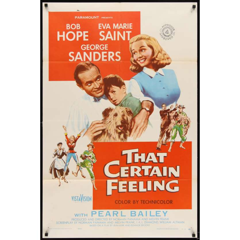 THAT CERTAIN FEELING Movie Poster '56 Eva Marie Saint, Bob Hope