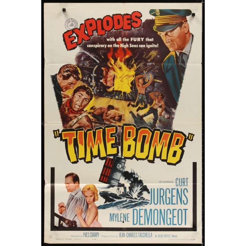TIME BOMB Movie Poster '61 Curt Jurgens, Mylene Demongeot