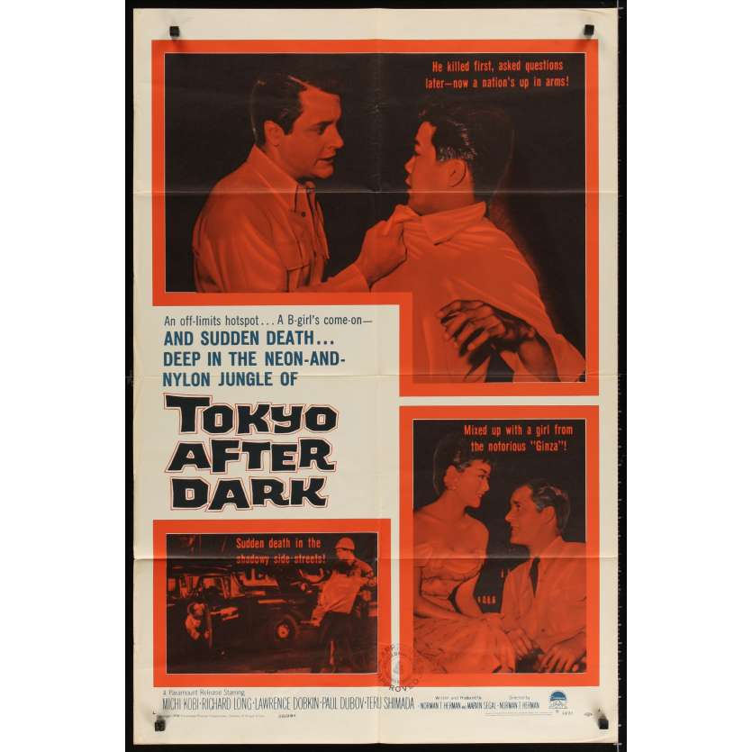 TOKYO AFTER DARK Affiche Originale US '60 Movie poster