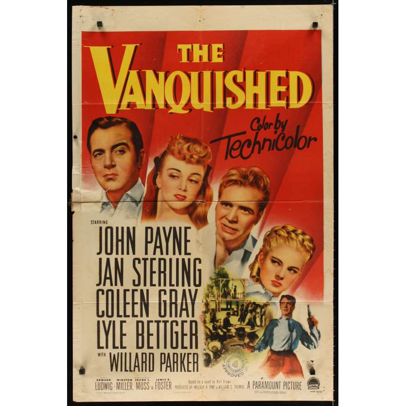 VANQUISHED Movie Poster '53 Jan Sterling