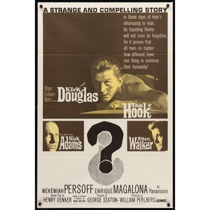 HOOK 1sh '63 Kirk Douglas, Nick Adams & Robert Walker in the Korean War!