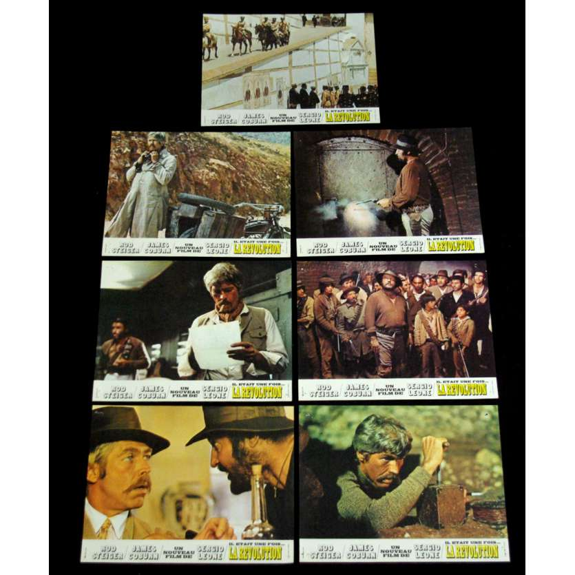 DUCK YOU SUCKER French Lobby Cards '71, James Coburn fistful of dynamite