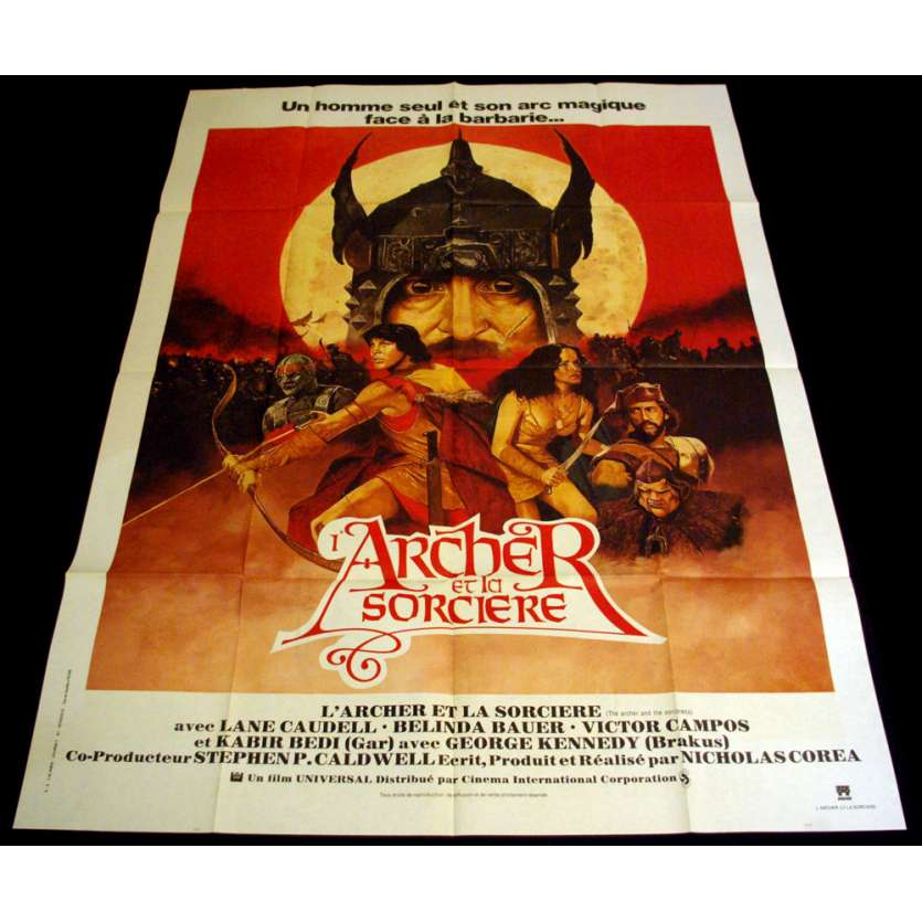 ARCHER ET LA SORCIERE Affiche 120x160 FR '81 Fantasy Movie Poster