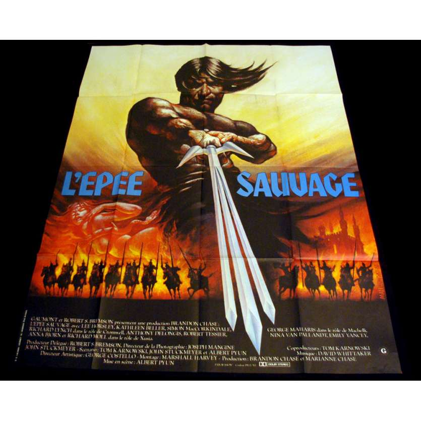 EPEE SAUVAGE Affiche 120x160 FR '82 Sword and the sorcerer Movie Poster