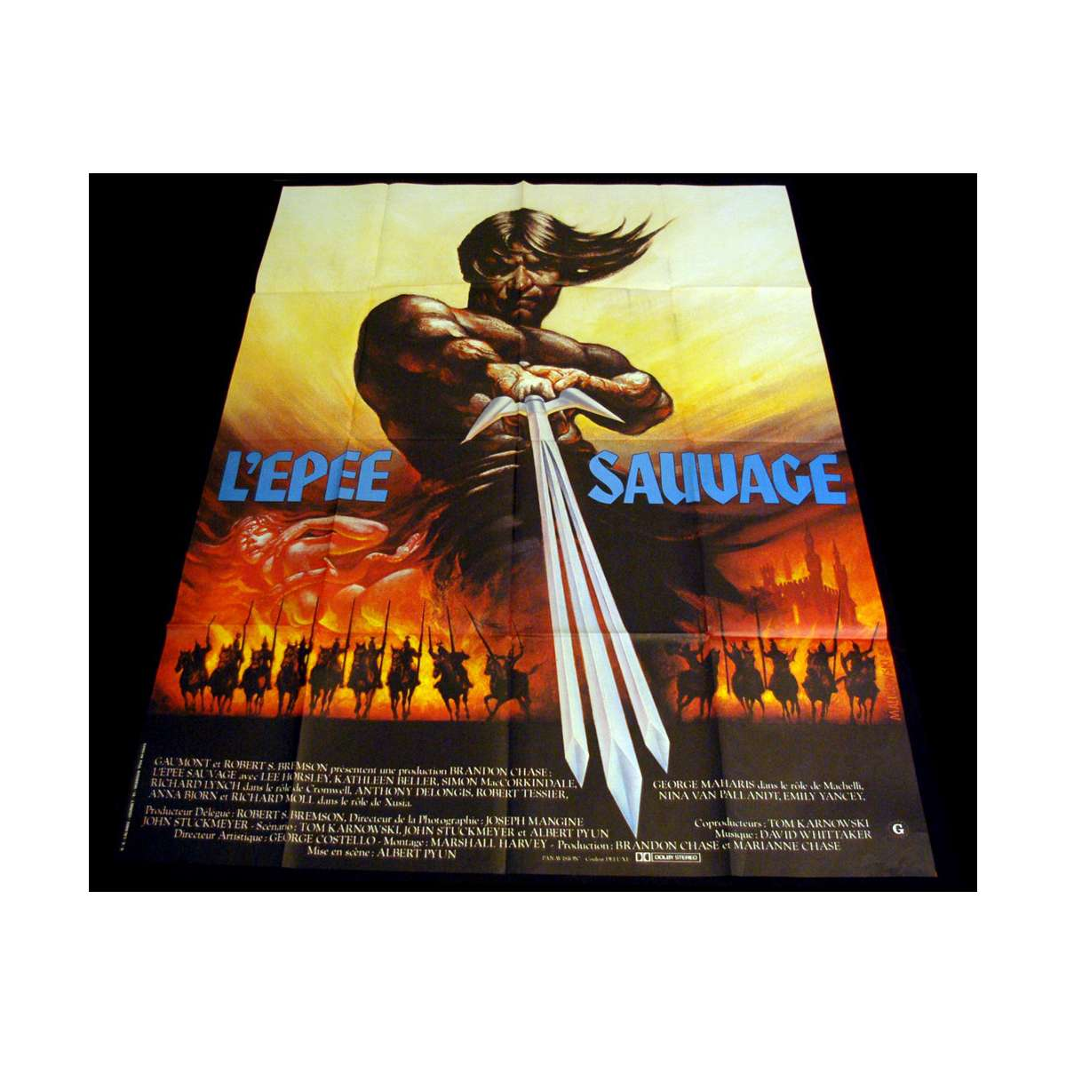 epee sauvage affiche de film 120x160 1982 sword and the sorcerer. Black Bedroom Furniture Sets. Home Design Ideas