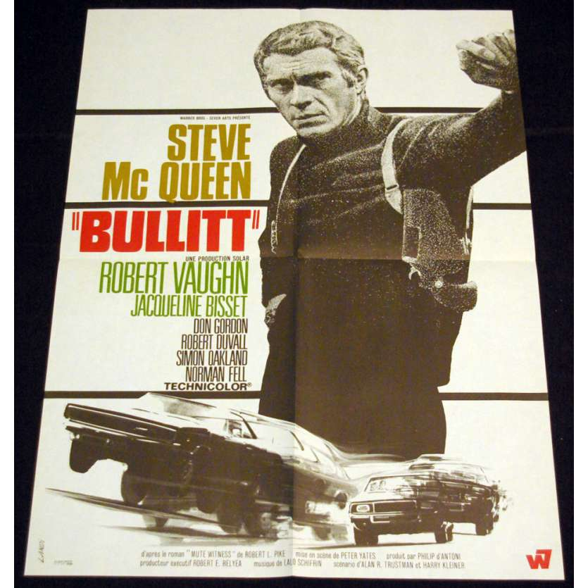 BULLITT French Movie Poster 23x31 '68 Steve McQueen, Peter Yates
