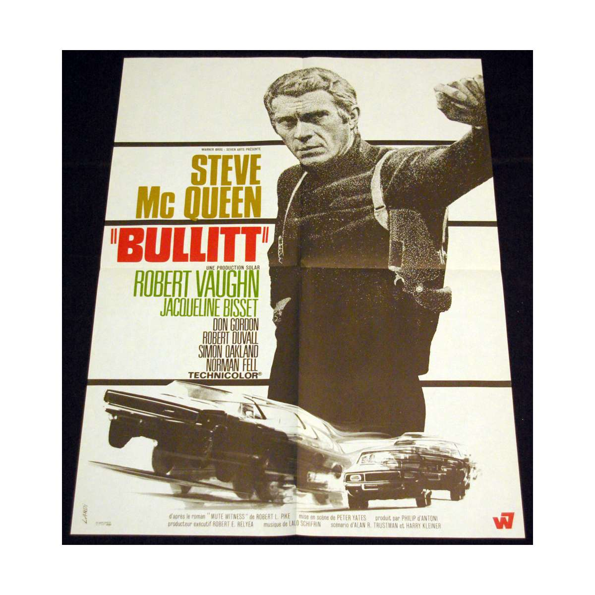 bullitt affiche 60x80 fr 39 68 steve mcqueen peter yates. Black Bedroom Furniture Sets. Home Design Ideas