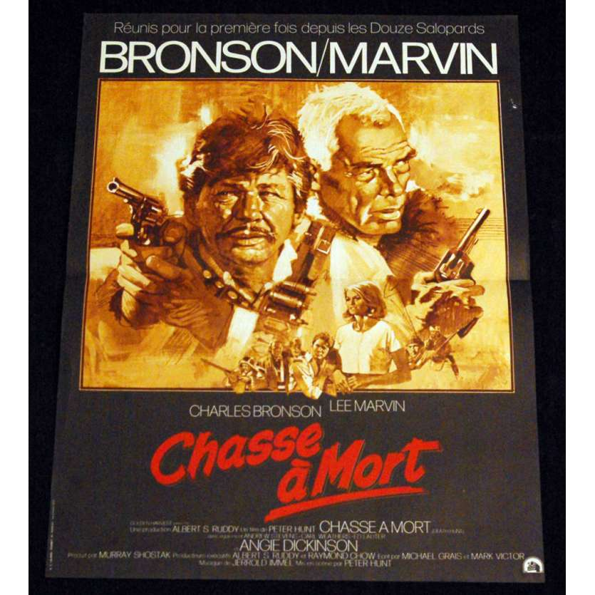 DEATH HUNT French Movie Poster 15x21 '81 Charles Bronson, Lee Marvin